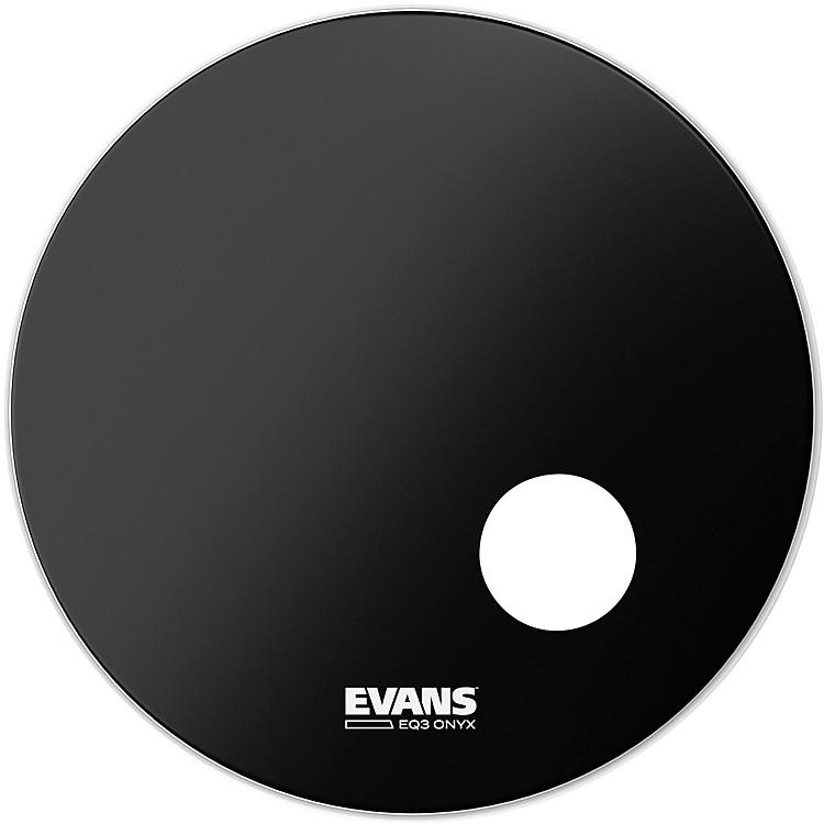 EvansOnyx Resonant Bass Drumhead24inch