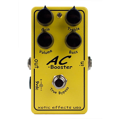 Open Box Xotic Effects AC Booster Overdrive Guitar Effects Pedal