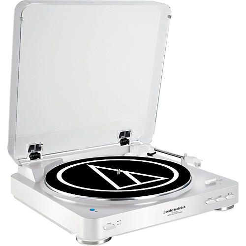 Open Box Audio-Technica AT-LP60WH-BT Fully Automatic Wireless Belt-Drive Stereo Record Player
