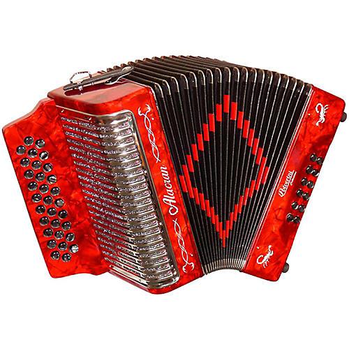 Open Box Alacran Accordion AL3112 Red with Case