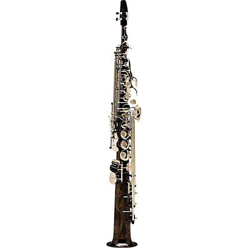 Open Box Allora Paris Series Professional Straight Soprano Saxophone with 2 Necks