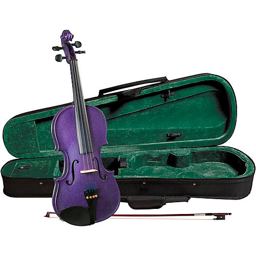 Open Box Cremona SV-75PP Premier Novice Series Sparkling Purple Violin Outfit