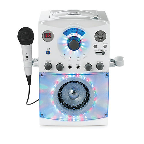 Open Box The Singing Machine Top Load Karaoke System with Disco Lights