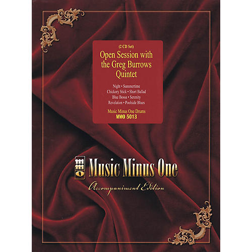 Music Minus One Open Session with the Greg Burrows Quintet Music Minus One Series Softcover with CD by Greg Burrows-thumbnail