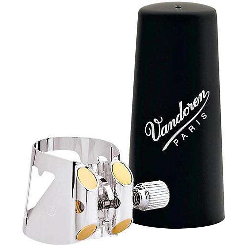 Vandoren Optimum Clarinet Ligatures Eb Clarinet, Silver Plated with Plastic Cap