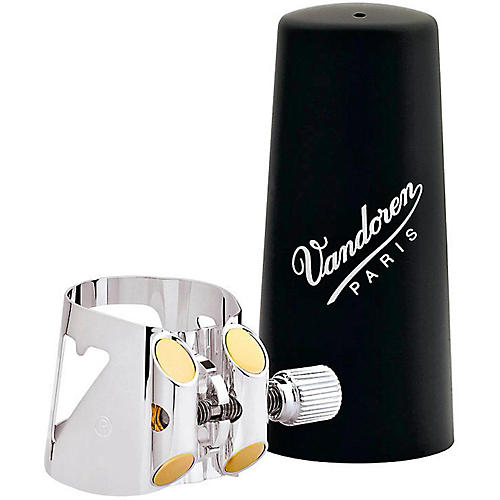 Vandoren Optimum Series Saxophone Ligatures Soprano Sax - Gold-Gilded with Plastic Cap
