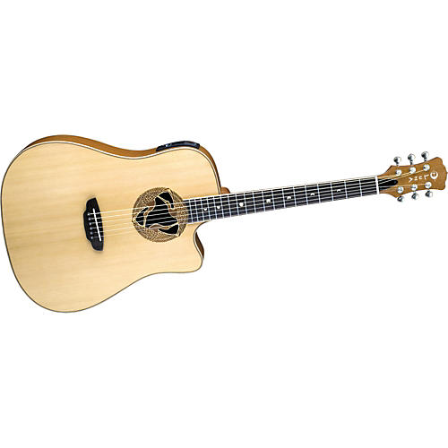 Luna Guitars Oracle Series Crane Dreadnought Cutaway Acoustic-Electric Guitar