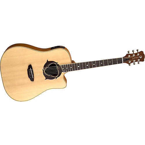 Luna Guitars Oracle Series Dolphin Dreadnought Cutaway Acoustic-Electric Guitar