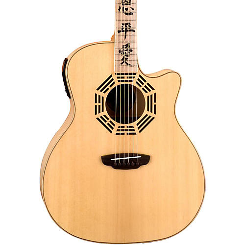 Luna Guitars Oracle Series Zen Grand Auditorium Cutaway Acoustic-Electric Guitar