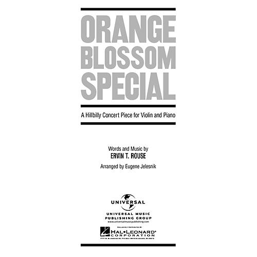 Hal Leonard Orange Blossom Special A Hillbilly Concert Piece for Violin And Piano By Rouse