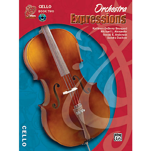 Alfred Orchestra Expressions Book Two Student Edition Cello Book & CD 1