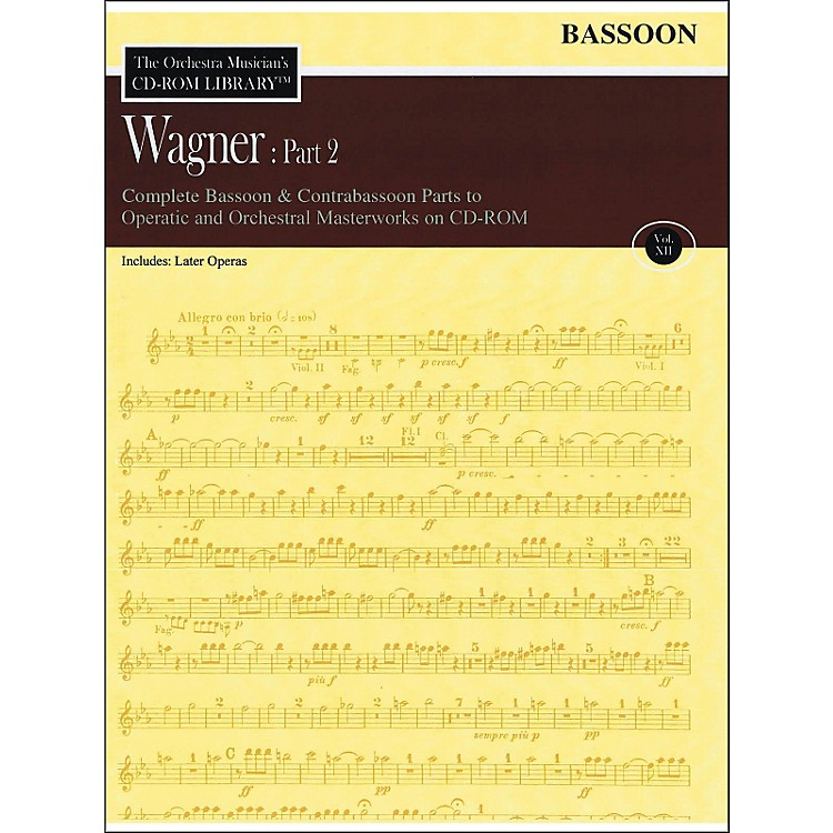 Hal Leonard Orchestra Musician's CD-Rom Library Vol 12 Wagner Part 2 Bassoon