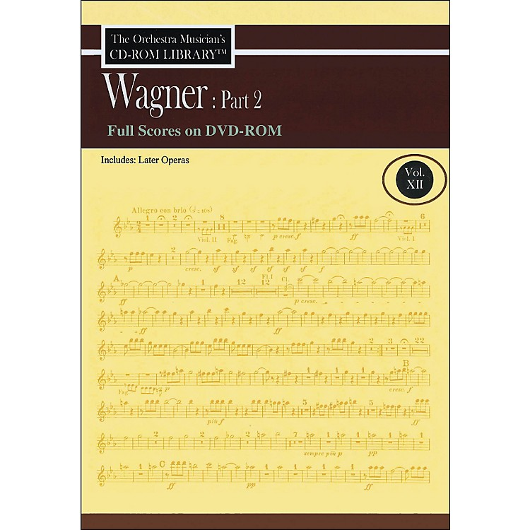 Hal Leonard Orchestra Musician's CD-Rom Library Vol 12 Wagner Part 2 Full Scores DVD-Rom