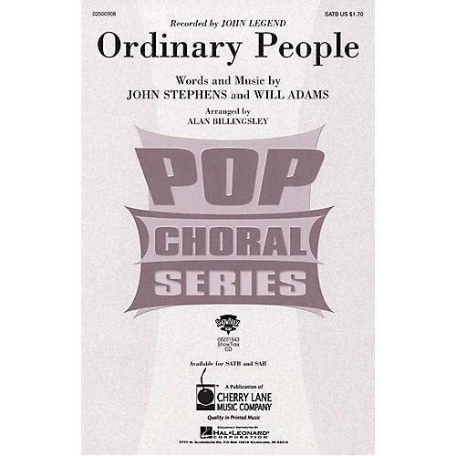 Cherry Lane Ordinary People SATB by John Legend arranged by Alan Billingsley-thumbnail