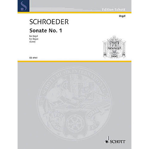 Schott Organ Sonata No. 1 Schott Series-thumbnail