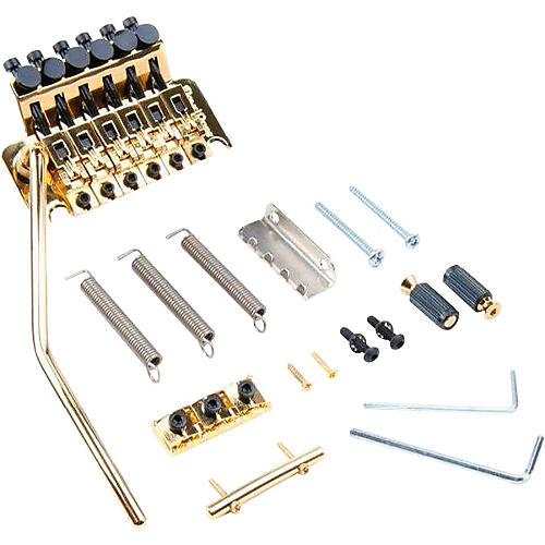 Floyd Rose Original Series Tremolo Bridge with R3 Nut Gold