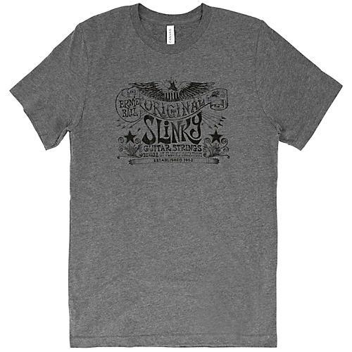 Ernie Ball Music Man Original Slinky Deep Heather T-Shirt XX Large Heather Gray