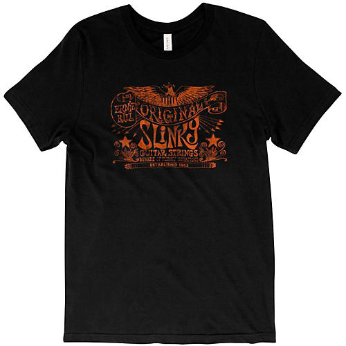 Ernie Ball Original Slinky Vintage Black T-Shirt XX Large Black