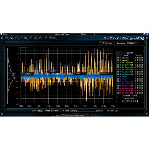 Blue Cat Audio Oscilloscope Multi Waveform Visualizer Software Download