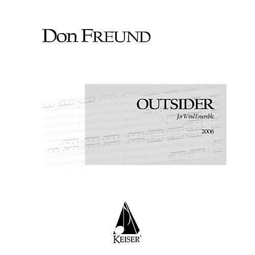 Lauren Keiser Music Publishing Outsider for Wind Ensemble LKM Music Series Softcover  by Don Freund-thumbnail