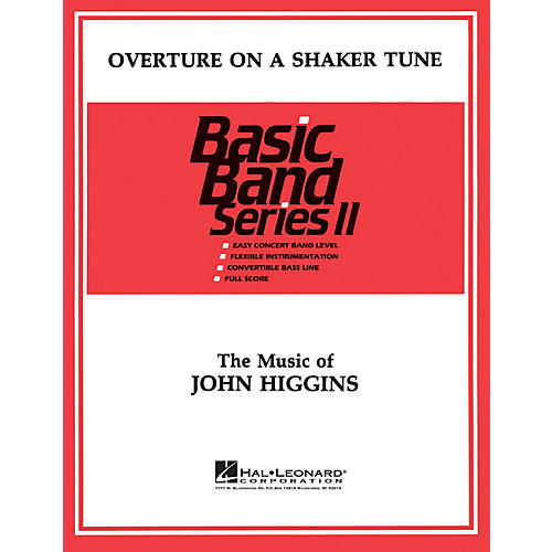 Hal Leonard Overture on a Shaker Tune Concert Band Level 2 Composed by John Higgins-thumbnail