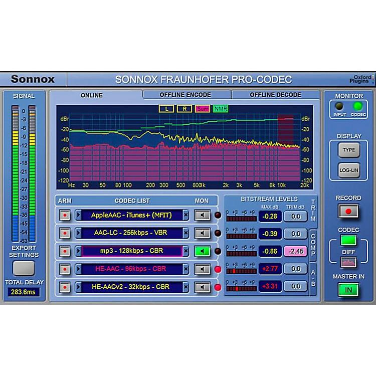 SonnoxOxford Fraunhofer Pro-Codec (Native) Software DownloadSoftware Download