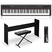 Yamaha P-115 88-Key Weighted Action Digital Piano Packages Black Intermediate Home Package