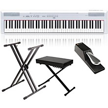 Yamaha P-115 88-Key Weighted Action Digital Piano Packages White Home Package