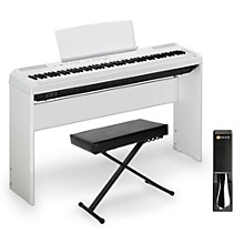 Yamaha P-115 88-Key Weighted Action Digital Piano Packages White Intermediate Home Package