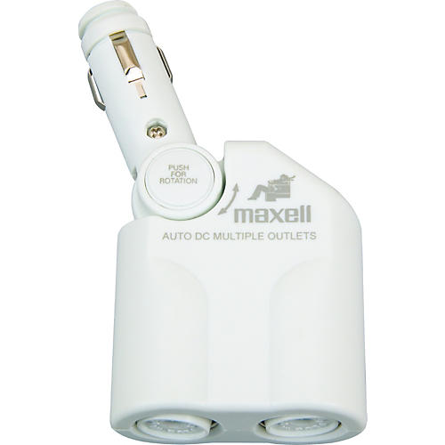 Maxell P-12 Dual Auto Power Adapter for iPod