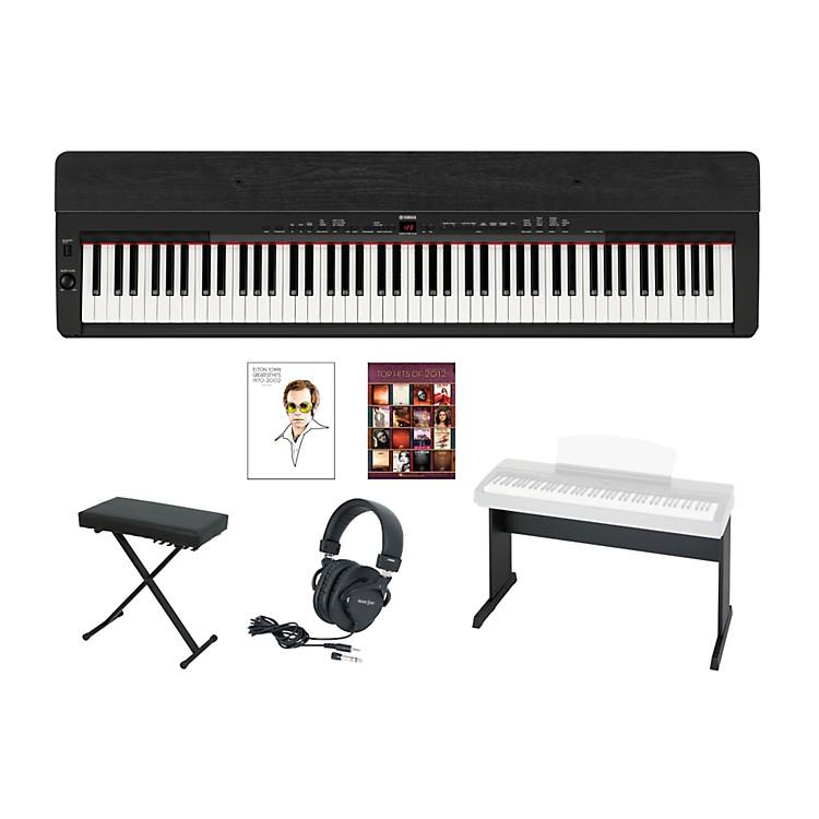YamahaP-155 Black Keyboard Package w/Matching Stand