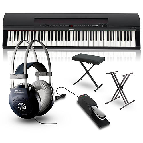 Yamaha P-255 88-Key Digital Piano Packages Black Performance Package-thumbnail