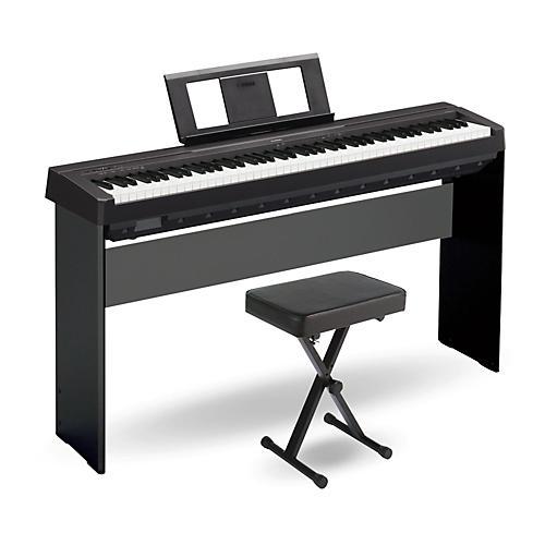 Yamaha p 45 88 key weighted action digital piano black for Yamaha p45 keyboard