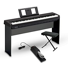 Yamaha P-45 88-Key Weighted Action Digital Piano Packages Black Intermediate Home Package