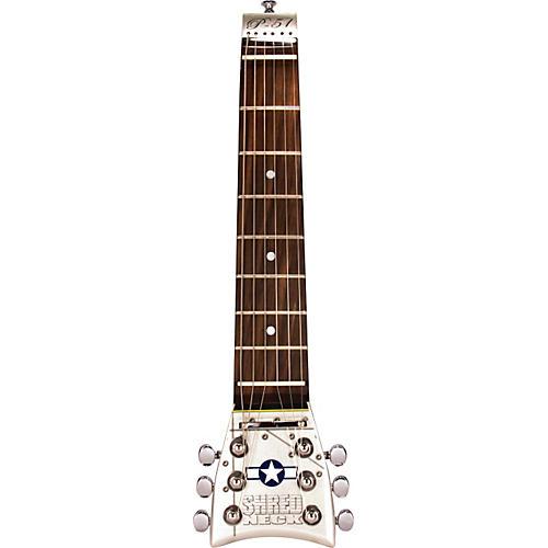 Shredneck P-51 Mustang Practice Guitar Neck Silver Metallic