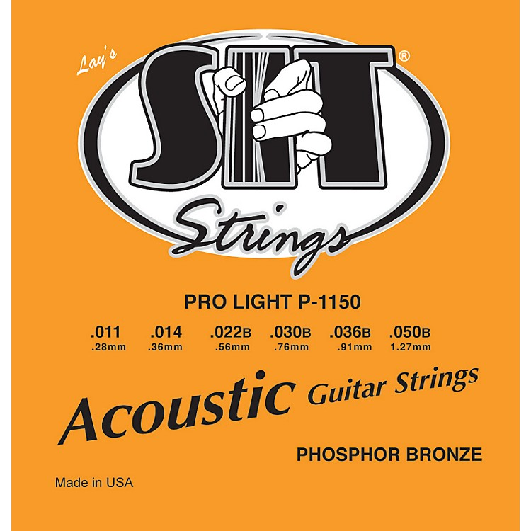 SIT StringsP1150 Pro Light Phosphor Bronze Acoustic Guitar Strings