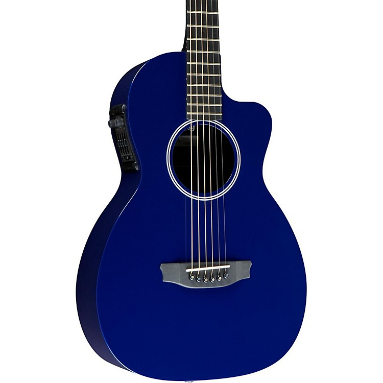 Rainsong P12 6-String Parlor with 12-Fret NS Neck Blue
