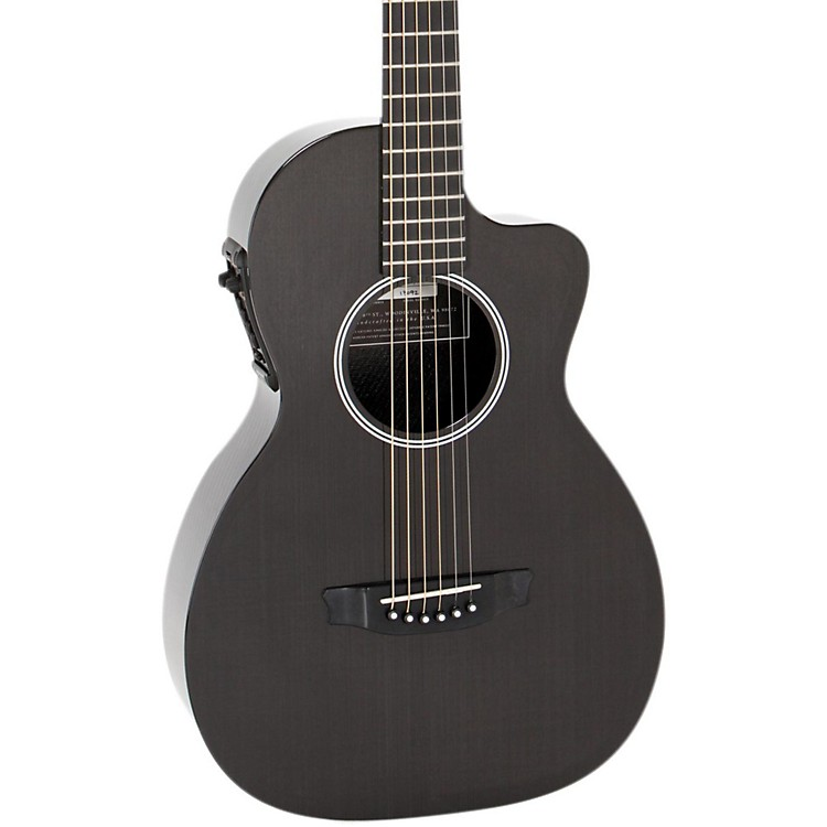 RainsongP12 6-String Parlor with 12-Fret NS NeckPewter