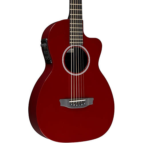 Rainsong P12 6-String Parlor with 12-Fret NS Neck Red