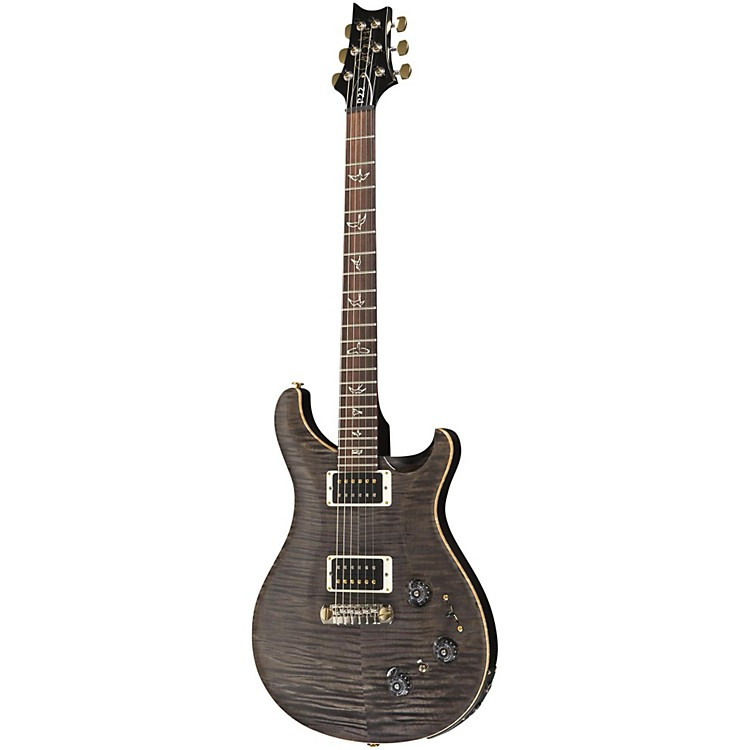 PRS P22 Pattern Regular Neck Flame 10-Top with Hybrid Hardware Electric Guitar Faded Gray Black