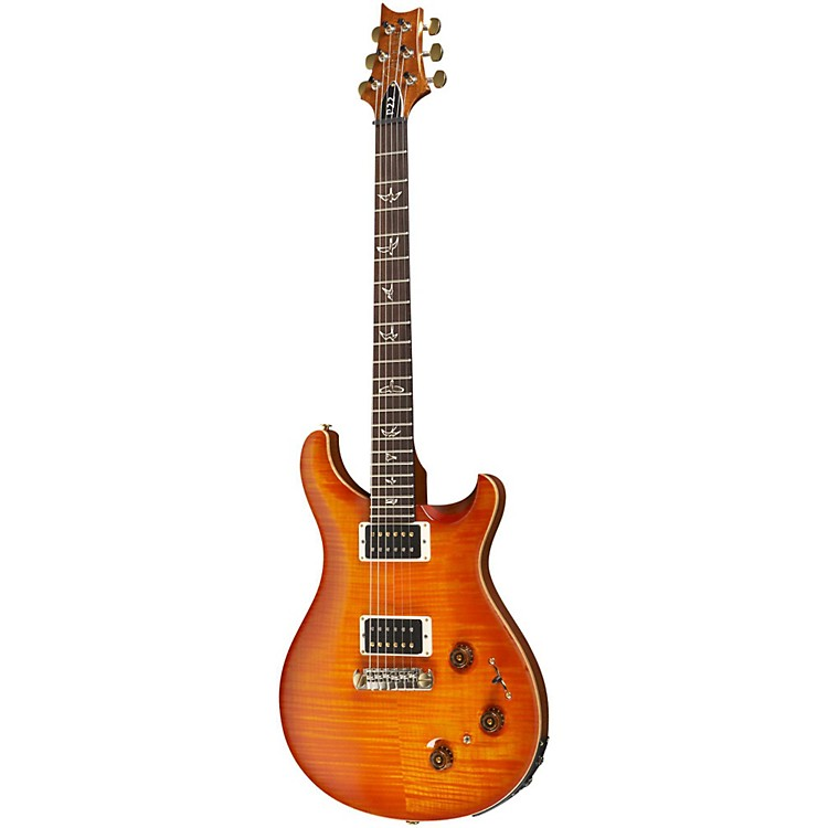 PRS P22 Pattern Regular Neck Flame 10-Top with Hybrid Hardware Electric Guitar Purple Hazel