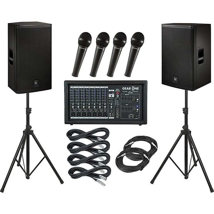 Gear OnePA2400 / Electro-Voice ELX115 PA Package
