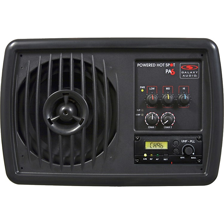 Galaxy Audio PA6SR Powered Hot Spot with Wireless Receiver Card