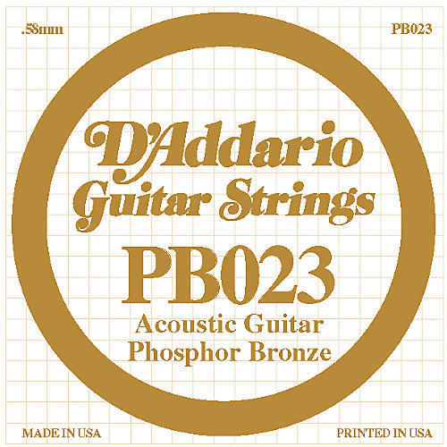 D'Addario PB023 Phosphor Bronze Acoustic Guitar String-thumbnail