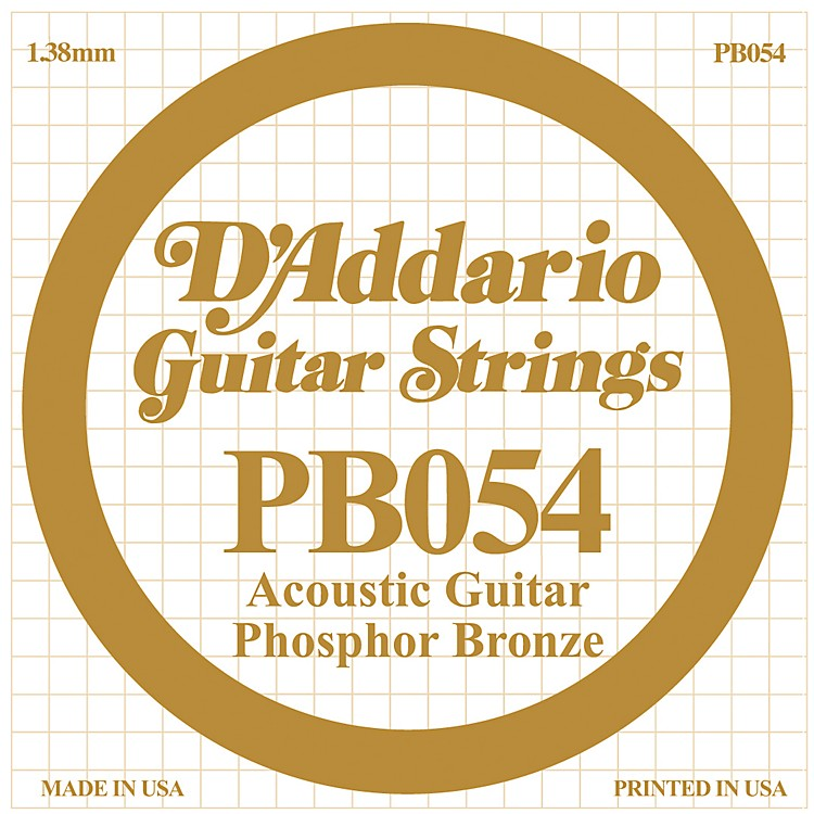D'Addario PB054 Phosphor Bronze Single Acoustic Guitar String