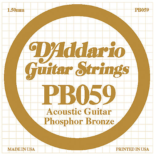 D'Addario PB059 Single Phosphor Bronze String