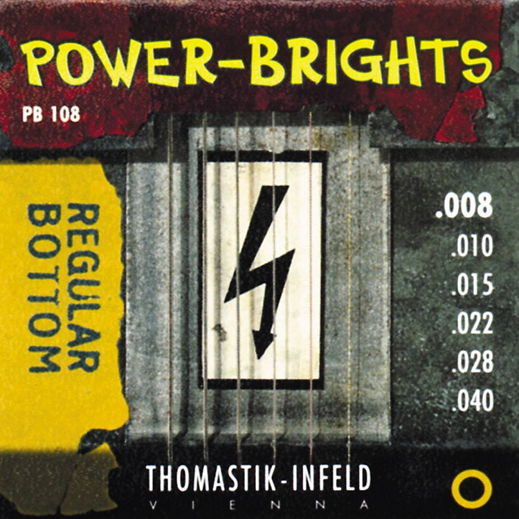 Thomastik PB108 Power-Brights Bottom Extra Light Guitar Strings