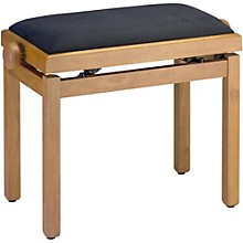 Musician's Gear PB39 Adjustable-Height Piano Bench Black Velvet Top Natural Matte Finish