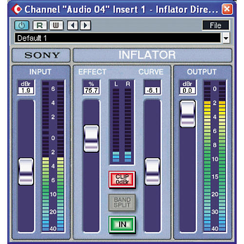 Sony PCR-3INFG2 Oxford Inflator Plug-in for TC PowerCore