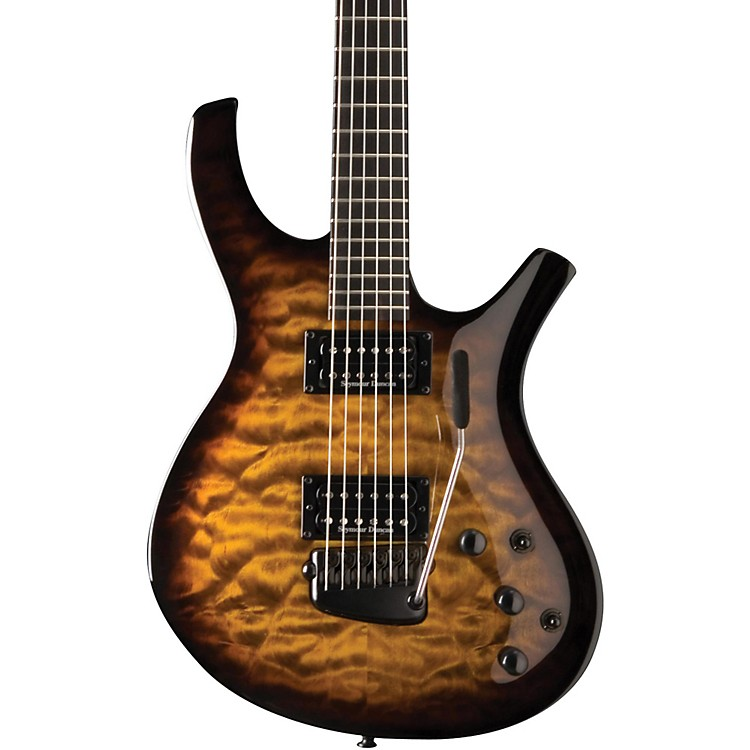 Parker Guitars PDF 105 Radial with Seymour Duncan Humbuckers Electric Guitar Quilt Vintage Sunburst